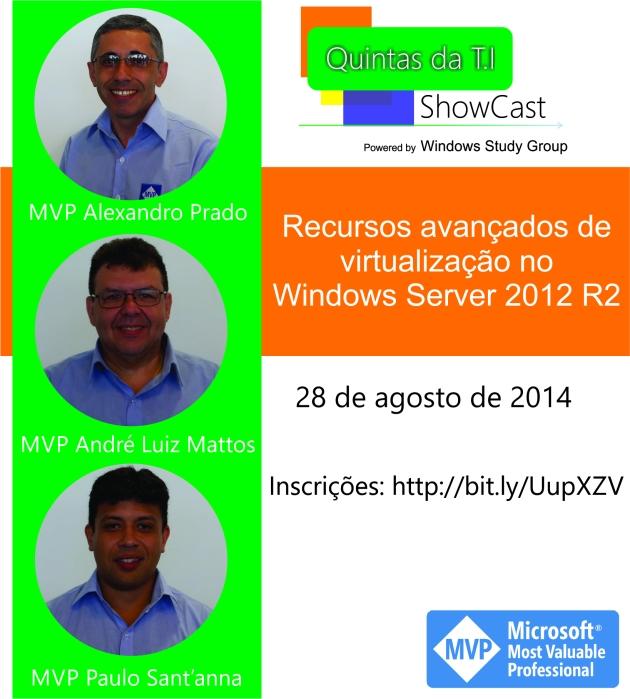 Folder Recursos avançados de virtualização no Windows Server 2012 R2