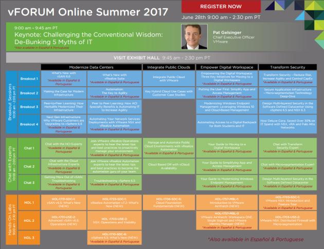 VMware vforum Online 2017